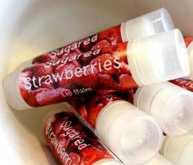 SUGARED STRAWBERRIES Lip Balm Tube .15